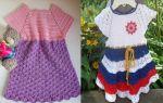 Квадратная кокетка крючком: схемы для детского платья и мастер класс