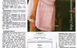 Летнее платье спицами: со схемами и видео-подборкой