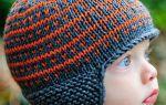 Детские вязаные спицами шапочки для новорожденного, для мальчика и девочки с описанием