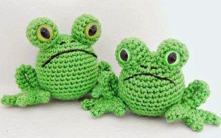 Вязаные игрушки крючком со схемами и описанием: заяц и лягушка