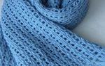 Мужской шарф крючком: схема с описанием для начинающих