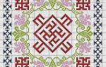 Вышивка славянских оберегов крестом со схемами: расскажем когда вышивать