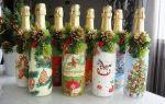 Новогодние украшения своими руками: варианты на елку и на бутылку