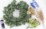Новогодние флористические композиции: фото в статье