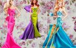 Платье для барби: мастер класс и схемы