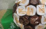 Гантель из конфет своими руками: мастер класс и пошаговое фото