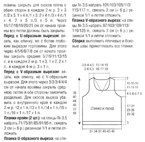 Безрукавка спицами: мастер класс со схемами и описаниями для начинающих