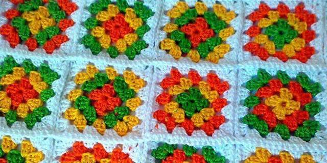 Бабушкин квадрат: вязание крючком и видеоурок для начинающих