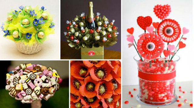Подарки из конфет своими руками: мастер класс с фото