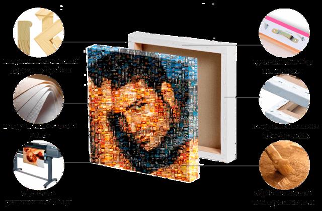 Мозаика из фотографий своими руками: как сделать портрет и коллаж