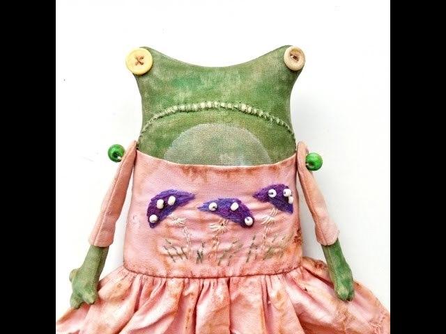 выкройка лягушки из ткани своими руками