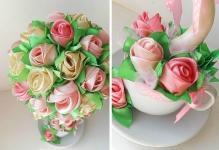 Как сделать розу из салфетки своими руками: мастер класс как сделать розы для топиария