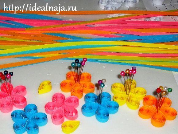Шар из цветов: квиллинг и оригами
