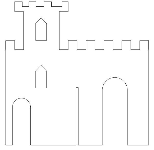 движения поделка замок из картона своими руками схемы шаблоны комплекте