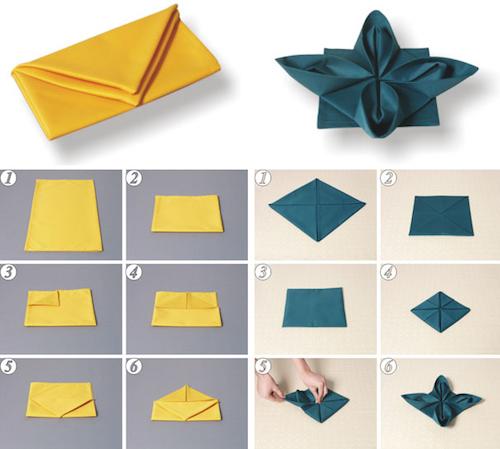 cкладывание салфеток различными способами: схема и разные виды сервировки стола