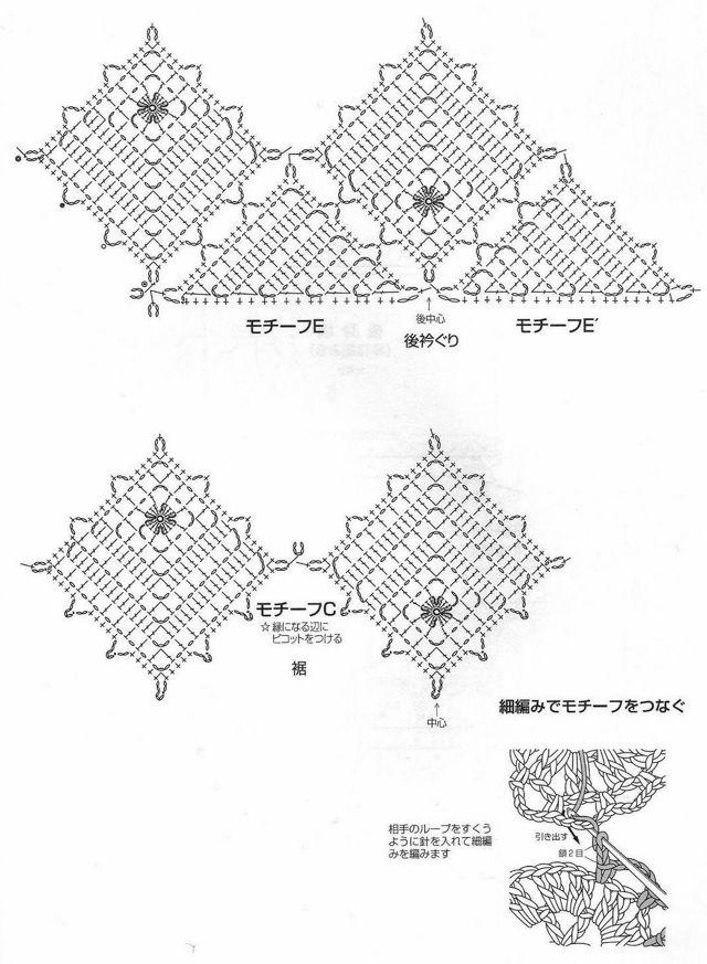 Майка крючком для начинающих: описание и японские схемы
