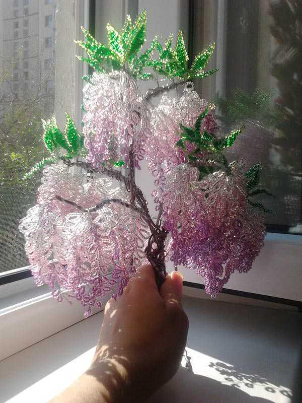Дерево из бисера глициния мастер класс с пошаговым фото