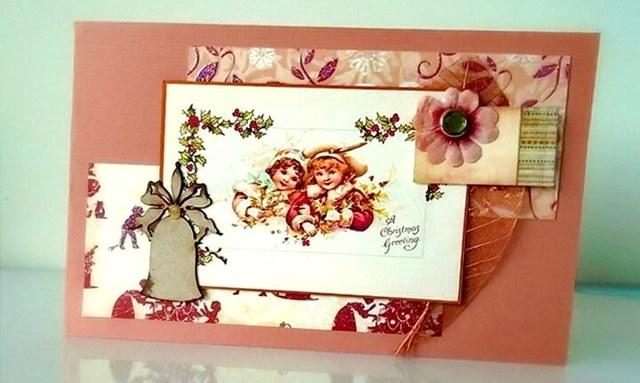 Новогодние открытки своими руками: рождественские открытки пошагово