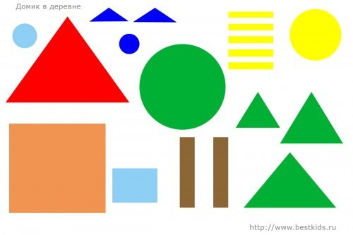 Аппликации из геометрических фигур: шаблоны в 4 класс