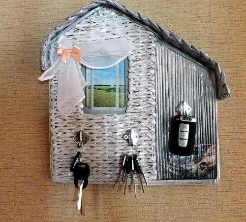 Настенная ключница своими руками: мастер класс как сделать домик
