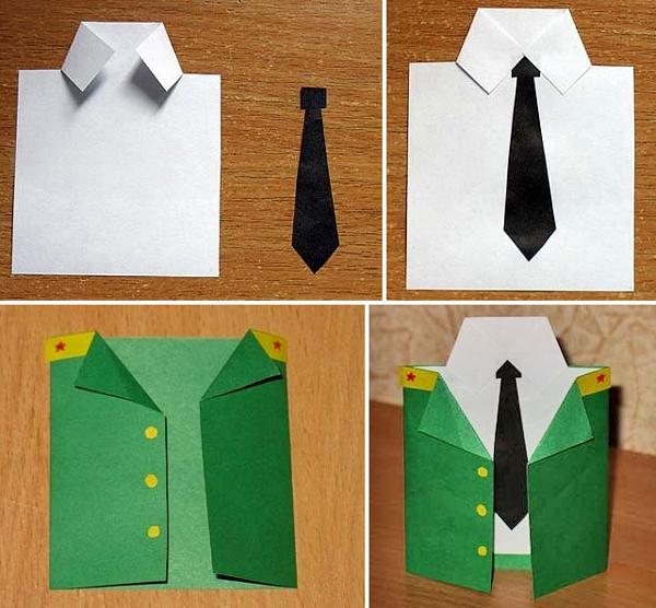 Открытка пиджак рубашка с галстуком