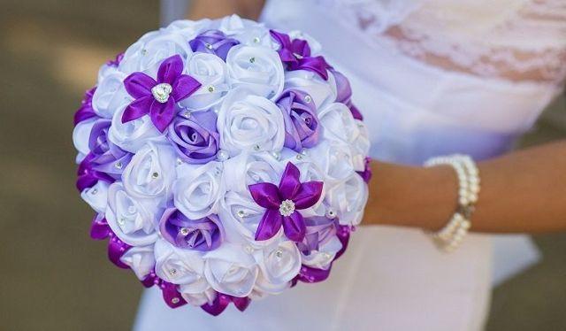 Букет из цветов своими руками: канзаши для невесты
