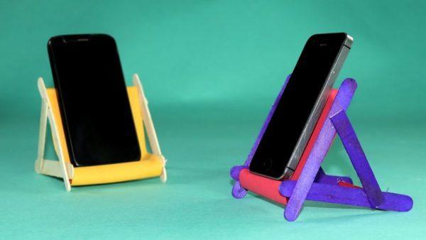 Подставка для телефона своими руками: мастер-классы с пошаговыми фото и видео для начинающих