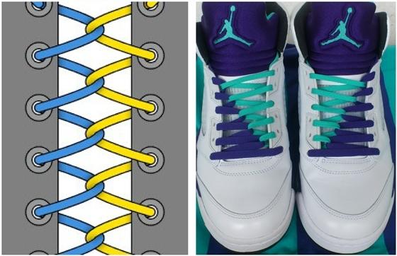 Как завязать длинные шнурки: варианты на ботинках, на кедах и на кроссовках