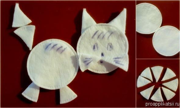 Аппликации из ватных дисков: делаем из ватных палочек и дисков