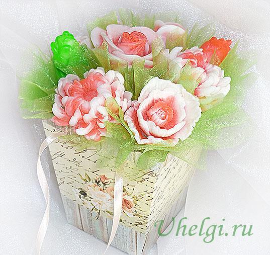 Букет из мыла: мастер класс из мыльных роз и из мыльных цветов