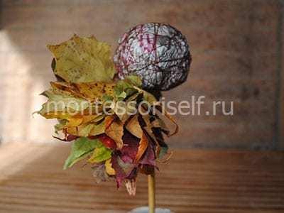 Осенние топиарии своими руками: мастер класс с фото