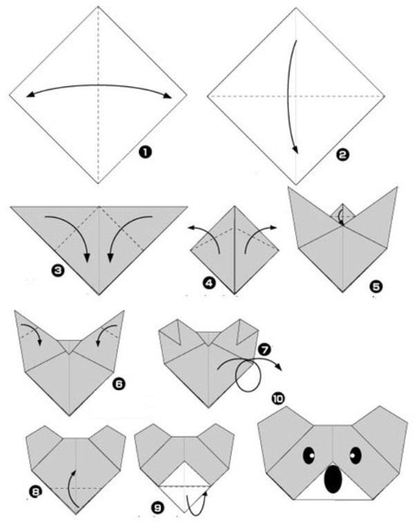 Оригами из бумаги для начинающих в картинках