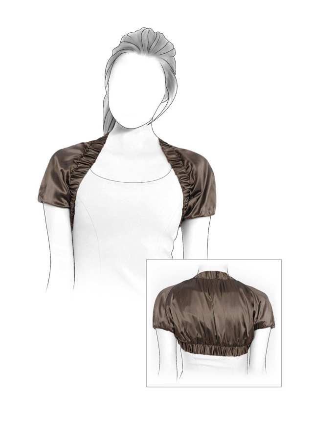 Болеро своими руками: выкройки как делать из ткани