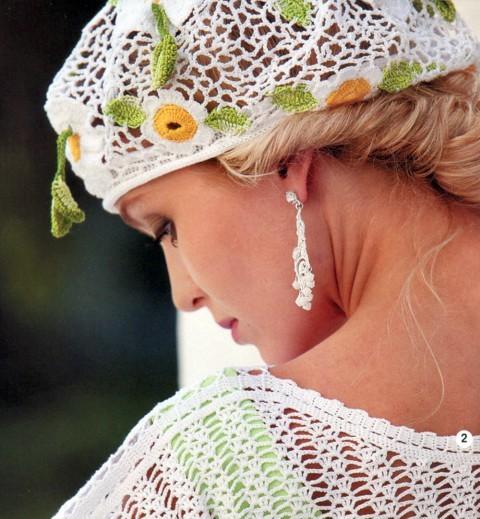 Берет крючком для женщин с описанием: вяжем на лето для начинающих
