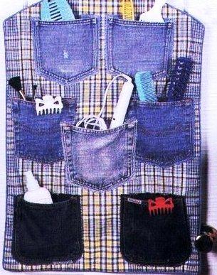 Настенный органайзер своими руками: делаем с кармашками из ткани