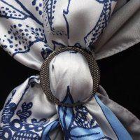 Волшебные пуговицы для платков: мастер класс для новичков