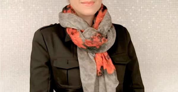 Как завязать палантин, шарфы и платки красиво на голове, шее и на пальто