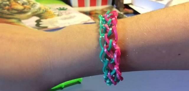 Плетение из резинок браслетов для начинающих: инструкция на вилках, на станке и на рогатке и простые схемы