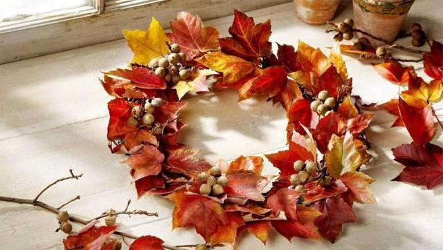 Осенний букет из листьев: делаем своими руками с фото