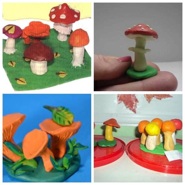 Поделки из пластилина для детей: варианты для детей