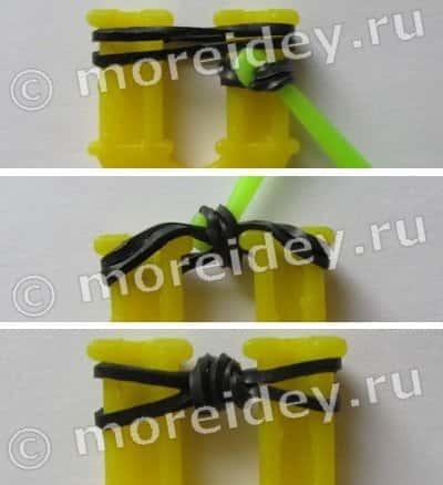 Как сплести из резинок паука: брелок на рогатке и на станке своими руками