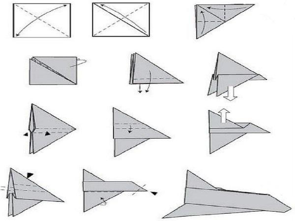 Самолет из картона: схемы с фото