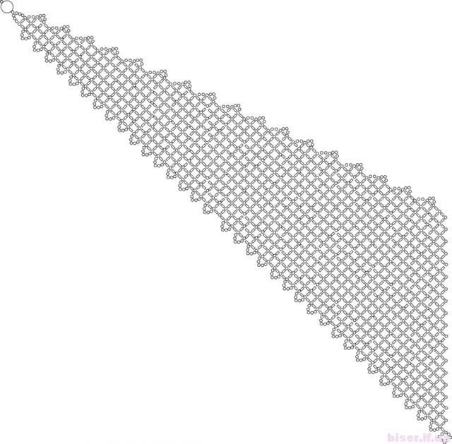 Косынка из бисера: схема и фото для начинающих