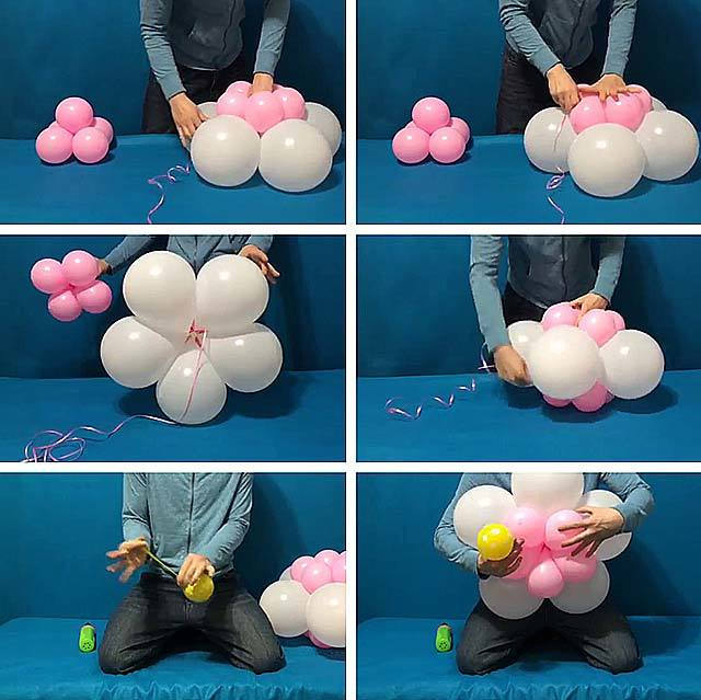украшения из надувных шаров с пошаговыми фото этими