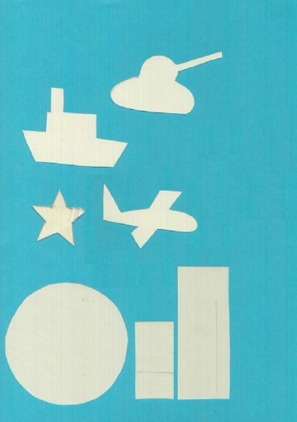 шаблон аппликация для открытки на 23 февраля