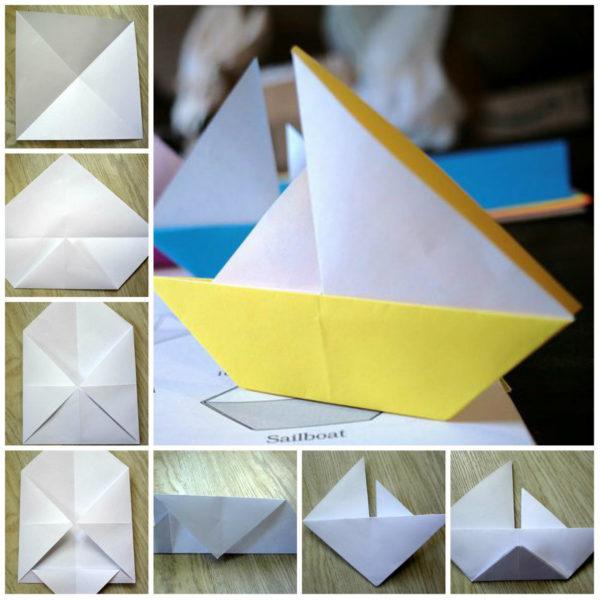 Кораблик из бумаги пошагово: мастер класс и инструкция с фото