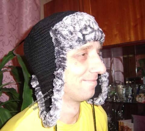 Мужская шапка крючком: схемы как связать, видео и фото мк
