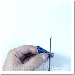 Лепестки канзаши: острый лепесток и круглые лепестки
