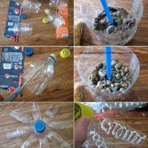 Клумбы из пластиковых бутылок: как сделать и как украсить своими руками