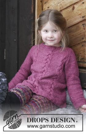 Свитер для девочки спицами: варианты с орнаментом